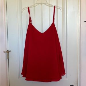Torrid plus size red cami
